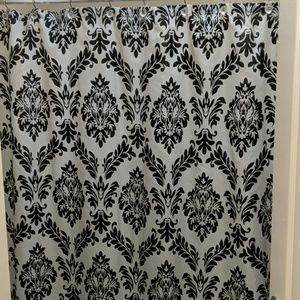 Other - Black/white shower curtain